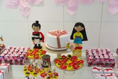 Dessert table at a Mulan birthday party! See more party ideas at CatchMyParty.com!