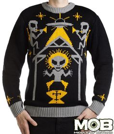 Alien Nativity Christmas Pullover Sweater