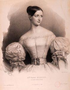 Fanny Elßler war neben Marie Taglioni eine der beliebtesten und bekanntesten Tänzerinnen des Biedermeier. Diese Darstellung stammt aus dem Jahr 1835.