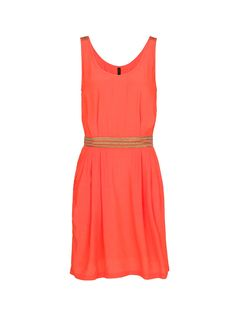robe orange-rouge + ceinture