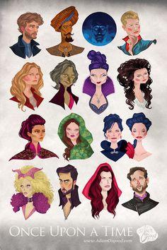 Once Upon a Time Spain | Todo sobre la serie Érase una vez: Fan Art: Ilustraciones de los personajes