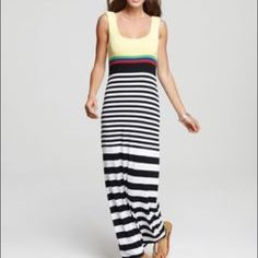 Bailey 44 Striped Fitted Maxi Dress