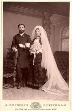 Black Wedding Gowns, Wedding Dresses, Black Bride, Wedding Couples, The Past, Victorian, In This Moment, Bustle, Bridal