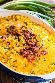 Cheddar Corn Casserole - Spicy Southern Kitchen
