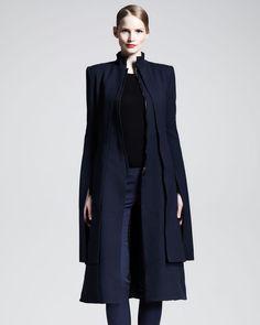 Long Kimono sleeve Coat - Lyst