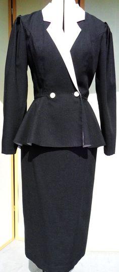 1980s Peplum power suit (1940s style)