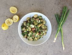 DITCH THE MAYO | LIGHT & FRESH POTATO SALAD WITH LEMON & HERBS | laurenariza