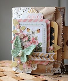 Papered Cottage by Shellye McDaniel: Be Inspired: A Mixed Media Mini - paper bag mini book that incorporates coin envelopes and flat brown paper bags #tutorial