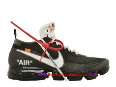 size 40 90ddb d0619 Off-White X Nike Air VaporMax Classique Chaussure de BasketBall Homme Noir  Blanc AA3831-