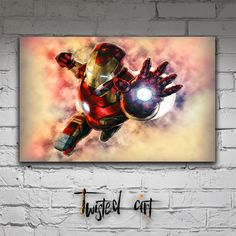 Iron Man The Avengers Movie Modern Abstract Box Framed Canvas Art Print