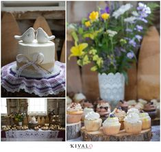 assorted wedding cupcakes By Kivalo Photography #MaineWeddings