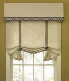 Picture of Outside Mount Roman Shades, They Mustn't Expensive