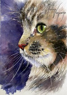 Котенок… Discover The Secrets Of Drawing Realistic Pencil Portraits.Let Me Show You How You Too Can Draw Realistic Pencil Portraits With My Truly Step-by-Step Guide. Watercolor Cat, Watercolor Animals, Watercolor Paintings, Watercolors, Cat Drawing, Painting & Drawing, Pet Portraits, Drawing Portraits, Animal Paintings