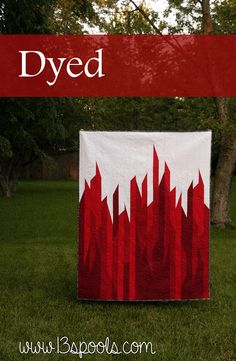 Dyed quilt - a striking, red and white modern quilt made with all solids. I free…