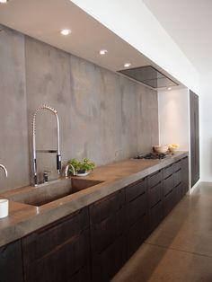 *kitchen design, modern interiors* - Working kitchen in Fritz Hansen showroom in…