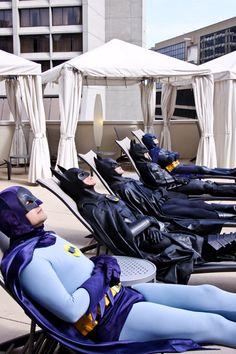 Batman on vacation. With batman. and batman. and batman (and batman) Space Ghost, Dc Comics, Nananana Batman, Tv Movie, Bob Kane, Cinema Tv, Adam West, Univers Dc, I Am Batman