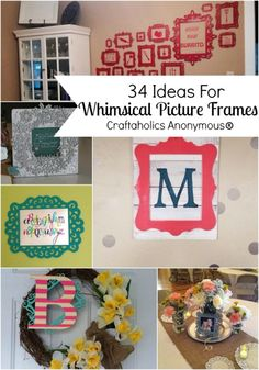 Craft ideas for those adorable unfinished decorative wood frames. Lots of great ideas!