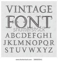 Vintage Font In Floral Baroque Style Latin Alphabet Black Capital Letters On A Gray Textured Background