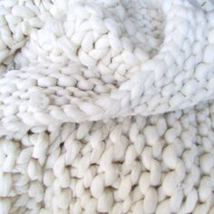 Chunky knit blanket how to
