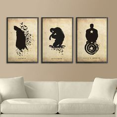 Superheroes are mainstream now that Hollywood has finally learned to make a decent comic book movie, and the Superhero Silhouette Poster Set lets you use the super-trend as super-decor. This three-poster set has something for everyon