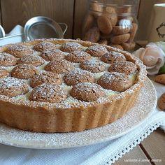 TORTA DOLCE FROLLA ripieno crema amaretti Strudel, Torte Cake, Savarin, Sicilian Recipes, Custard, Ricotta, Sweet Recipes, Mousse, Muffin