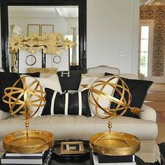Bring home big-city #style with metallic gold and black #decor ...