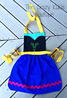 Frozen inspired apron