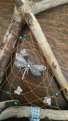 Beautiful Dragonfly and Butterflies Driftwood by DreamsinDriftwood