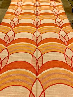 Cool 70s Boho Chic Fabric with a Stylized Leaf Design for Upholstery and Home Decor