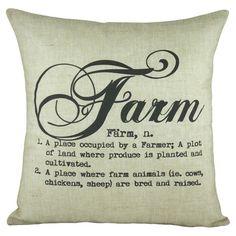 Farm Pillow - love this - Joss & Main