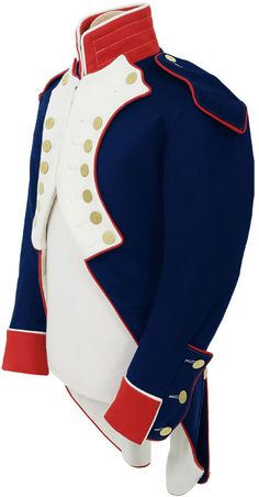 CT707 French Infantry Coat circa 1810    Shown here is our superb quality French Line Infantry tunic c.1810, made from best Hainsworth wools & fitted with plain brass flat buttons, fully lined, white stitching is used in the appropriate places as per original examples.