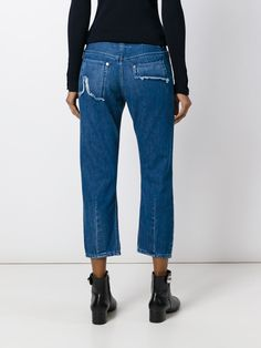 Mm6 Maison Margiela укороченные джинсы