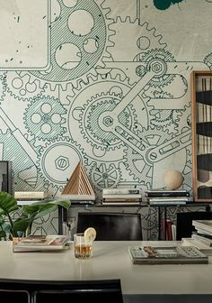 1177 best inspired by wallcoverings images wall papers wall rh pinterest com