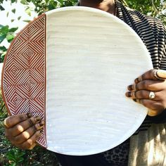 """980 Likes, 25 Comments - Pottery by Osa Atoe (@osa_atoe) on Instagram: """"(SOLD) I made another one of these 14"""" platters since the response was so positive on the first…"""""""