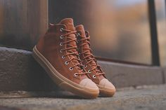"""Converse has created another gem, and this time it's not in the form of the popular Chuck Taylor. Instead, converse invested some time on the Jack Purcell Mid silhouette, which resulted in a pretty dope colorway: theConverse Jack Purcell Mid """"Brown Gum"""". The upper of the sneaker is constructed of grained leather and is set ..."""