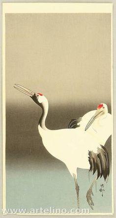 Ohara Koson: Two Cranes - Artelino