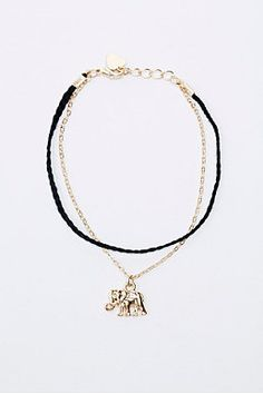 Elephant and Chain Friendship Bracelet in Gold Gold Necklace, Pendant Necklace, Friendship Bracelets, Beautiful Things, Urban Outfitters, Elephant, Jewellery, Watches, Accessories