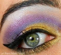 gold and purple eyeshadow #beauty #makeup