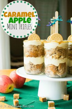 Caramel Apple Mini Trifles | A baJillian Recipes