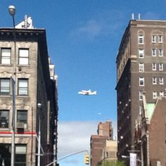 Shuttle Enterprise arriving in New York this morning. View from 80th & Broadway. <3 <3 <3 <3 <3