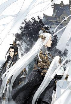 Evan y Ketsun My Fantasy World, Fantasy Male, Character Art, Character Design, Character Inspiration, Chinese Drawings, China Art, Boy Art, Couple Art