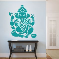 Ganesh Wall Decal Vinyl Wall Sticker Room Art by DreamBirdGraphic