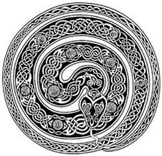 Celtic serpent design