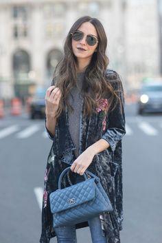 Floral Velvet Blazer   Chanel Quilted Purse