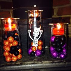 Happy Halloween! #PartyLite #candles This Symmetry Trio is awesome! You can keep them out all year long and just change what you put in it.