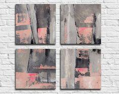ABSTRAKCJONISTYCZNA MALOWANIE - oryginalna płótno Współczesna abstrakcja Sztuka nowoczesna.  4x16x16 calowy abstrakcyjny obraz ścienny 4x 40x40cm