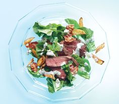 Steak Salad With Bacon and Crispy Potatoes and Blue Cheese Dressing (Real Simple)
