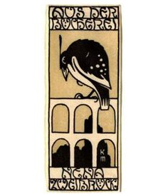 Ex libris Fritz Waerndorfer (1903). I could happily post things by the indefatigable Koloman Moser (1868–1918) all the time but he's not exactly an unknown figure even if his work does get overshad...