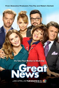 #GreatNews is the mother of all comedies! Don't miss the premiere Tuesday, April 25 at 9/8c on NBC.