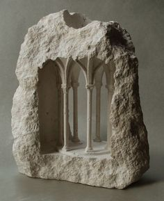 Matthew Simmonds, an art historian and architectural stone carver based in Copenhagen, is known as the creator of exceptionally beautiful miniature spaces hewn from stone